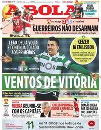 capa Jornal A Bola de 5 novembro 2018
