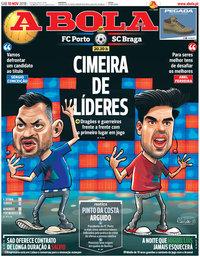capa Jornal A Bola de 10 novembro 2018