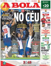 capa Jornal A Bola de 11 novembro 2018