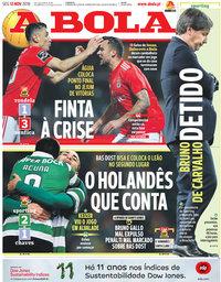 capa Jornal A Bola de 12 novembro 2018