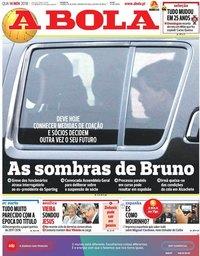capa Jornal A Bola de 14 novembro 2018