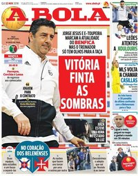 capa Jornal A Bola de 22 novembro 2018
