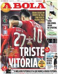 capa Jornal A Bola de 23 novembro 2018
