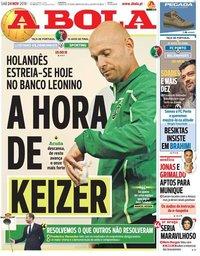 capa Jornal A Bola de 24 novembro 2018