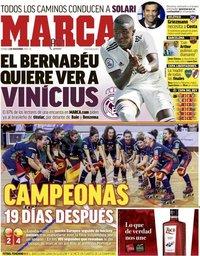 capa Jornal Marca de 2 novembro 2018