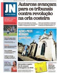 capa Jornal de Notícias de 1 novembro 2018