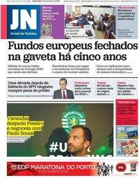 capa Jornal de Notícias de 2 novembro 2018