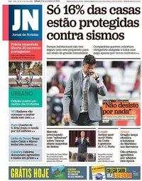 capa Jornal de Notícias de 3 novembro 2018
