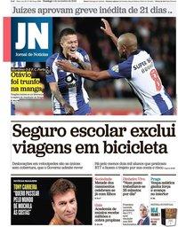 capa Jornal de Notícias de 4 novembro 2018