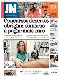 capa Jornal de Notícias de 5 novembro 2018