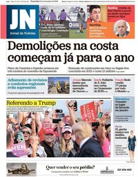 capa Jornal de Notícias de 6 novembro 2018