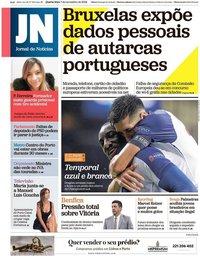 capa Jornal de Notícias de 7 novembro 2018