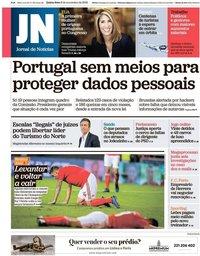 capa Jornal de Notícias de 8 novembro 2018