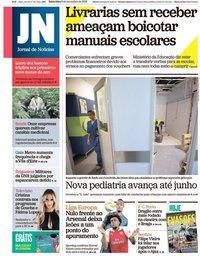 capa Jornal de Notícias de 9 novembro 2018