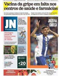 capa Jornal de Notícias de 11 novembro 2018