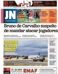 capa Jornal de Notícias de 12 novembro 2018
