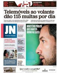 capa Jornal de Notícias de 13 novembro 2018