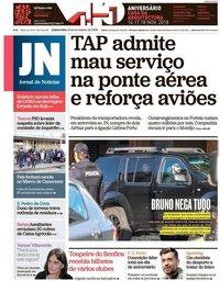 capa Jornal de Notícias de 15 novembro 2018