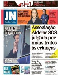 capa Jornal de Notícias de 16 novembro 2018