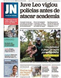 capa Jornal de Notícias de 17 novembro 2018