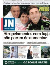 capa Jornal de Notícias de 18 novembro 2018