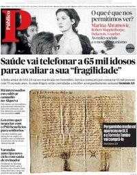 capa Público de 2 novembro 2018