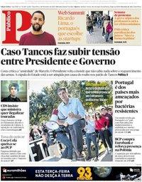 capa Público de 6 novembro 2018