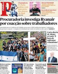 capa Público de 7 novembro 2018