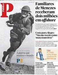 capa Público de 11 novembro 2018