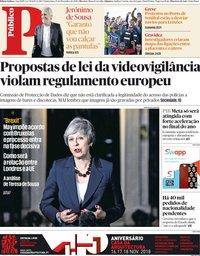 capa Público de 15 novembro 2018