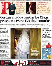 capa Público de 16 novembro 2018