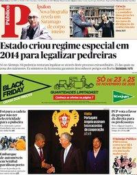 capa Público de 23 novembro 2018