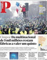 capa Público de 25 novembro 2018