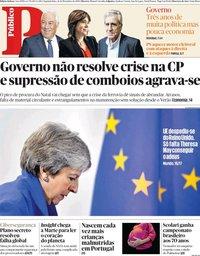 capa Público de 26 novembro 2018