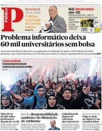 capa Público de 27 novembro 2018