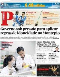 capa Público de 29 novembro 2018
