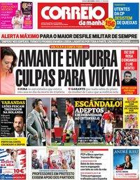 capa Correio da Manhã de 3 novembro 2018