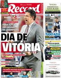 capa Jornal Record de 7 novembro 2018