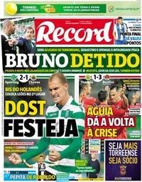capa Jornal Record de 12 novembro 2018