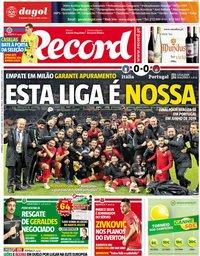 capa Jornal Record de 18 novembro 2018