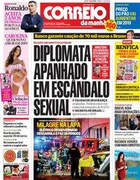 capa Correio da Manhã de 15 dezembro 2018