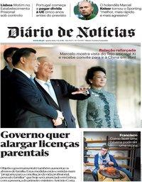 capa Diário de Notícias de 5 dezembro 2018