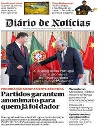 capa Diário de Notícias de 6 dezembro 2018