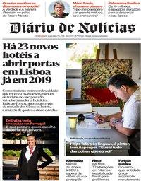 capa Diário de Notícias de 7 dezembro 2018