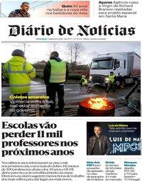 capa Diário de Notícias de 8 dezembro 2018