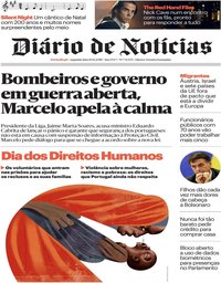 capa Diário de Notícias de 10 dezembro 2018