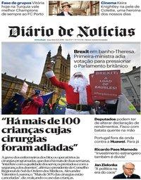 capa Diário de Notícias de 11 dezembro 2018
