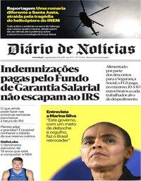 capa Diário de Notícias de 17 dezembro 2018
