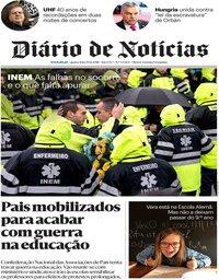 capa Diário de Notícias de 19 dezembro 2018