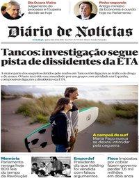 capa Diário de Notícias de 20 dezembro 2018